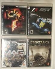 Lot of 4 PlayStation 3 Games-Resistance, F1 Racing, Resident Evil, MAG