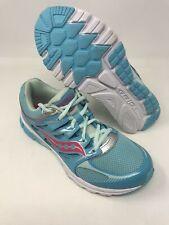 Saucony Girls' Zealot Running Shoe, Turquoise/Silver, 5.5 M Us Big Kid