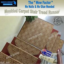 Concrete stair carpet tread pad nosing hall runner pads timber polish stain