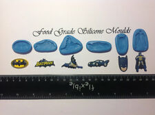6 BATMAN Themed Food Grade Silicone Moulds