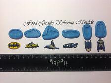 6 batman thème moules silicone qualité alimentaire