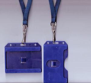 1 x Double Sided ID Badge Card Rigid Holder & 10mm Lanyard: FREE UK P&P