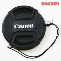 55mm 55 mm Pinch Snap on front lens cap for Canon E-55 II EF EF-S mount lens
