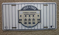 2 Yankee Stadium Commemorative Novelty Car License Plate NY Yankees Sign 2008
