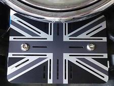 Triumph pointés Thruxton Bonneville Régulateur Couverture Régulateur Union Jack Alu.