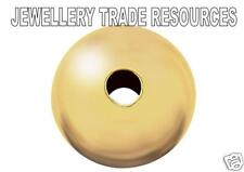 18ct Yellow Gold 8mm Hollow Bead Jewellery Making