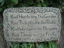 kind hearts wall plaque stone garden ornament |   VISIT MY SHOP