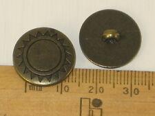 10 metal look lightweight plastic Buttons 18mm shank Sun sunshine Sewing B116-2