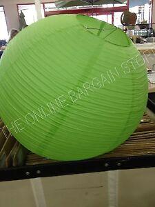 "5 Pottery Barn Teen 30"" large Green paper lantern chandelier light lamp WEDDING"