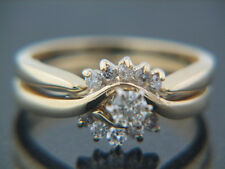 0.30 carat Diamond Wedding Set with interloking Engagement Ring and wed band