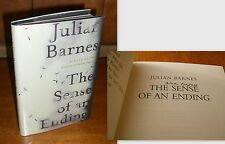Signed 1st Edition - The Sense of an Ending by Julian Barnes - Booker Prize