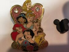 Princesses The Gang Aurora Ariel Belle Cinderella Jasmine Snow Disney Pin