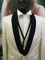 Dettagli su Abito da sposo blu giacca lunga con gilet lanificio Cerruti made in Italy