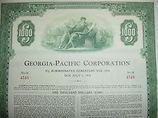 Georgia-Pacific Corporation $1,000 Bond Stock Certificate