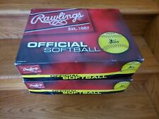 "Rawlings Official 12"" Little League Leather Softballs - New - 2 cases of 12 ea."