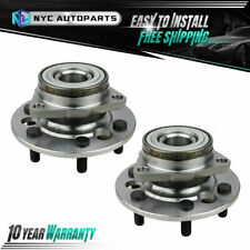 Pair Front Wheel Bearing & Hub Assembly for 1988 1989 1990 1991 Chevy GMC K1500