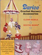 Darice Nursery Accessories Clown Mobile Bootee Banks Crochet Pattern