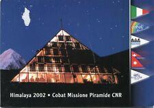 NEPAL 2002  postcard ITALY  EXPEDITION HIMALAYA COBAT   to ITALY