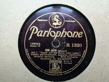 EMMY BETTENDORF & GERHARD HUSCH - Don Juan / The Magic Flute 78 rpm disc (A+)