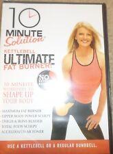10 Minute Solution Kettlebell Ultimate Fat Burner DVD Workout Fitness New