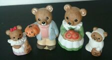 Set of Four Collectible Homeco Halloween Figurines Bear Family - 5209