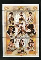 SENEGAL HOLLYWOOD ACTRESSES SHEET OF NINE MINT NEVER HINGED