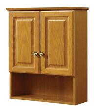 Bathroom Cabinets Wall Mount With Doors Oak Towel Linen Storage Shelves Decor