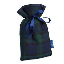 Blackwatch Tartan Mini Hot Water Bottle With Padded Soft Cover