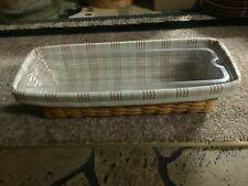 Longaberger Window Box Planter Basket Combo with Dual Protectors