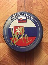 Andrej Sekera Autographed Auto Signed Slovakia Puck Edmonton Oilers
