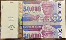 New ListingZaire Error Paper Money 50000 Unc Of 30-1-1996