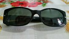 Persol 2991-S 95/31  53□17 Sunglasses Black glass lenses women Italy,Auth GC