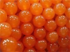 "12mm Rare Orange South America Topaz Round Gems Loose Beads 15"" AAA"