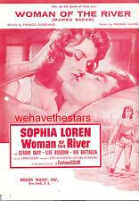 "WOMAN OF THE RIVER Sheet Music ""Woman Of The River"" Sophia Loren"