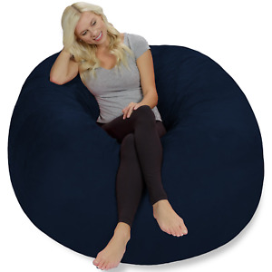Chill Sack Giant 5' Memory Foam Bean Bag with Soft Micro Fiber Cover - Blue