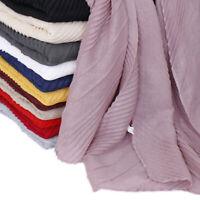 Women Ladies Crinkle Hijabs Cotton Scarf Shawl Muslim Head Wraps Soft Scarves