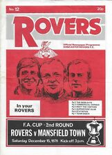 Football Newspaper/Programme>DONCASTER ROVERS v MANSFIELD TOWN Dec 1979 FAC