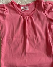 Hanna Andersson Solid Pink Cotton Tee Shirt Size 5 110