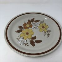 "Autumn Collection Stoneware Wildwood Dinner Plate Vtg 10.5"" Japan Flowers Wheat"