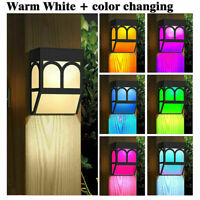 LED Solar Wall Light Powered Mount Outdoor Garden Path Landscape Fence Yard Lamp