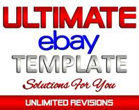 Ebay Store Listing Template Design / Auctiva / Inkfrog / MOBILE RESPONSIVE /HTML