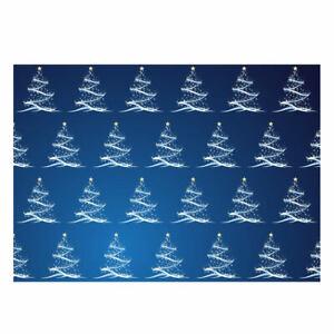 Unique High QualityChristmas Gift Wrap Blue/White Christmas Tree Design-GP107