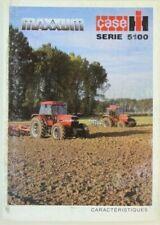 prospectus brochure tracteur CASE IH serie 5100 tractor traktor prospekt