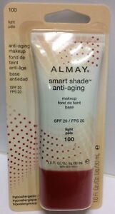 ALMAY Smart Shade MAKEUP FOUNDATION Anti-Aging ( LIGHT # 100 ) NEW & SEALED.