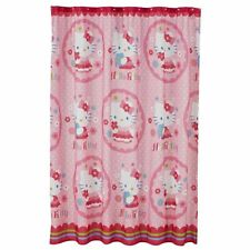 """Hello Kitty Fabric Shower Curtain By Sanrio 72"""" x 72"""" New"""
