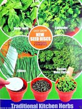 TRADITIONAL KITCHEN HERBS MULTI PACK 4 DISC VARIETIES HIGH QUALITY HERB SEEDS