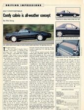1988 Mazda Rx-7 Convertible Rx7 Original Car Review Print Article J637