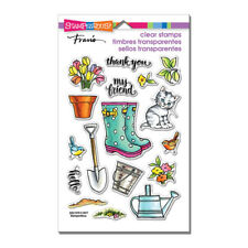 Garden Boots & Sayings CLEAR Unmounted Rubber Stamp Set STAMPENDOUS SSC1270 New
