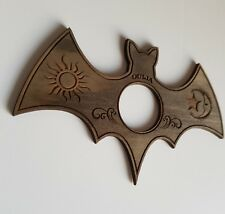 Planchette Bat style, made from wood, vintage grey