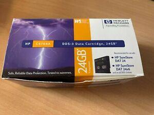 10 x HP DDS-3 Data Cartridge 24GB BNIB C5708A
